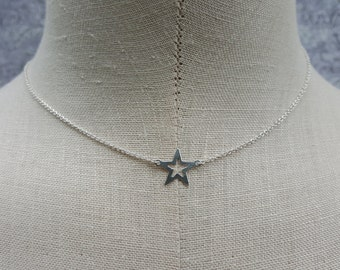 Star Power Sterling Silver Necklace