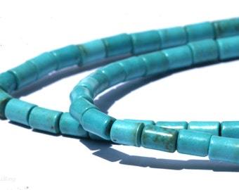 5x3.5mm Natural Blue Turquoise Barrel Shaped DIY Jewelry Making Beads - Bds502