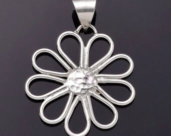 Sterling Daisy Pendant