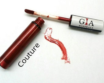 """Natural Lip Gloss """"Couture"""" - Moisturizing, Hydrating - Vegan Friendly - All Natural Lip Color With Certified Organic Ingredients"""