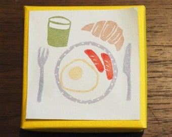 Breakfast Rubber Stamp Set