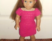 American girl doll crocheted dress