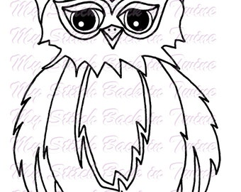 Digital stamp colouring image -  Owl Bert . jpeg / png