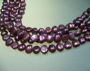 "Mauve Freshwater Pearls 7.5"" Strand"