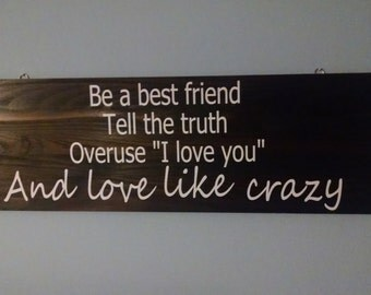 Love Like Crazy Lyrics (DECAL ONLY!)