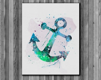 Printable poster Anchor watercolor - Art Print, instant download, Watercolor Print, poster