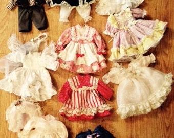 Vintage Doll Dresses - LOT 10