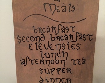 "The Hobbit, Lord of the Rings ""Daily Meals"" Hand Painted Canvas"
