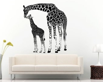 tall giraffe sticker etsy