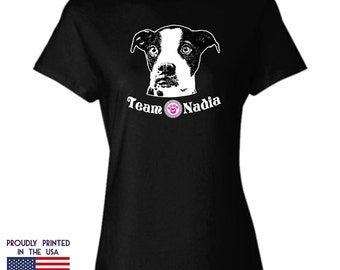 Save Nadia Womans T-Shirt Design 5 StinkyKiss Project