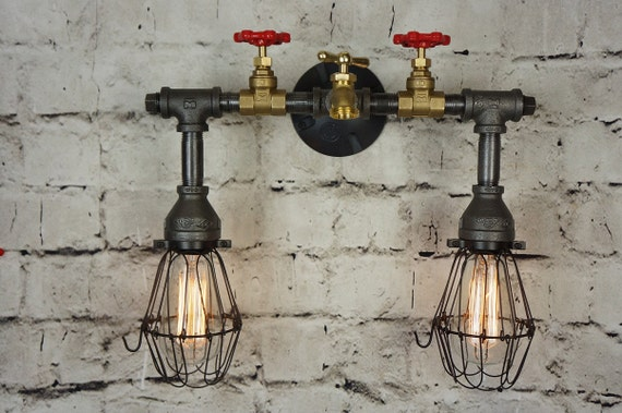 Vanity Light Ground Wire : Henson Brass & Iron Vanity Light With Wire by 9thAveIronWorks