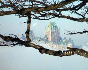 Instant Download - Quebec City in the Mist - Château Frontenac Photography