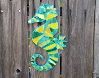Mosaic Glass Seahorse