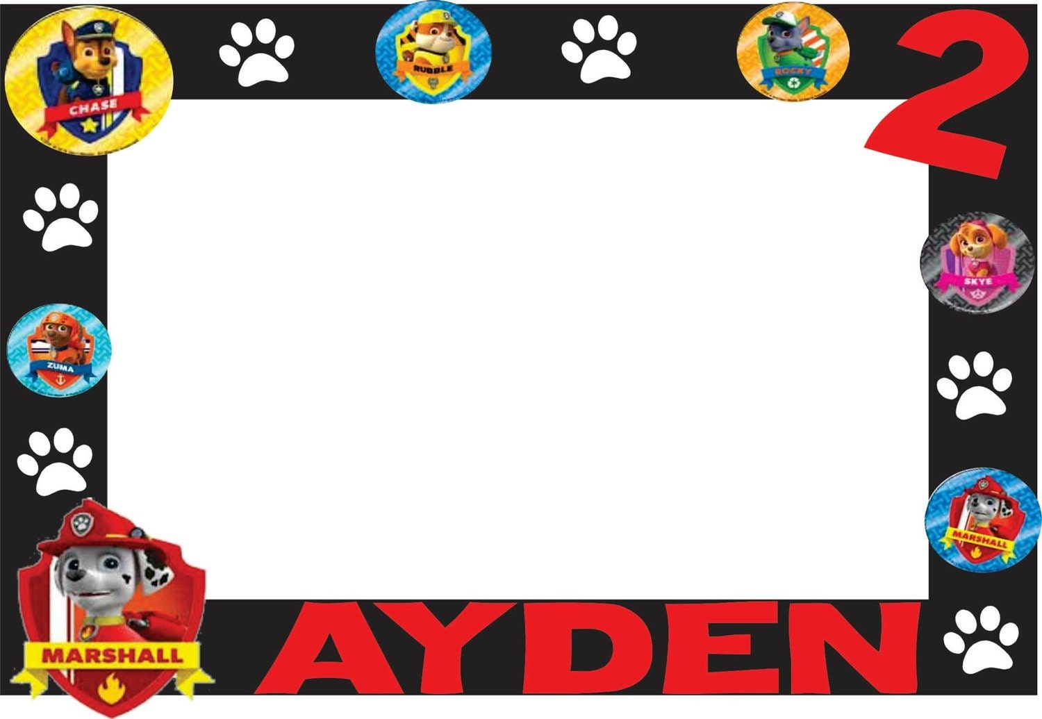 This is a photo of Enterprising Paw Patrol Borders