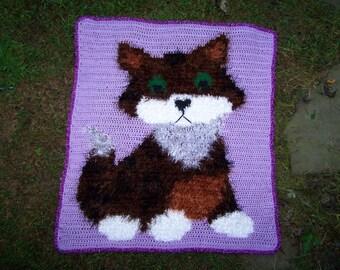 Kitten Crochet Pattern, Kitten blanket pattern