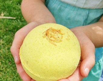 Large Bath Bomb Fizzy Handmade  Tumeric Citrus & Coco Butter Argan