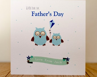 Handmade Personalised Fathers Day Card - Kite