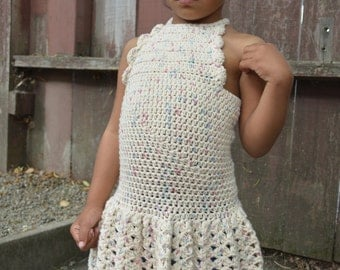 Cotton Crochet Summer Dress (Scalloped Halter)