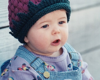 Baby Hat Knitting Pattern - Fiber Trends A Berry Cute Hat Knitting Pattern - Knitted Hat Pattern For Babies