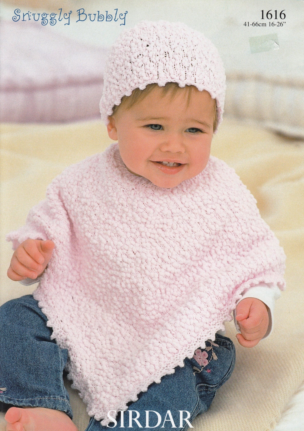 Knitting Pattern For Toddler Poncho : Baby Poncho Knitting Pattern Sirdar Snuggly Bubbly 1616