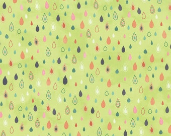 MODA - Fresh Cut - 30394-12 - Floral Tulip Field Light Green - Floral  - Green - Raindrops
