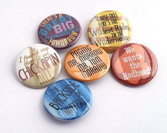 Magic Kingdom 6-pack Buttons or Magnets - Walt Disney World Magic Kingdom, Magic Kingdom rides
