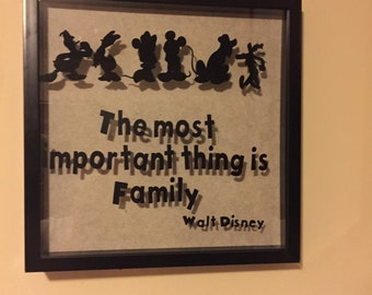 Mickey and friends family shadow box
