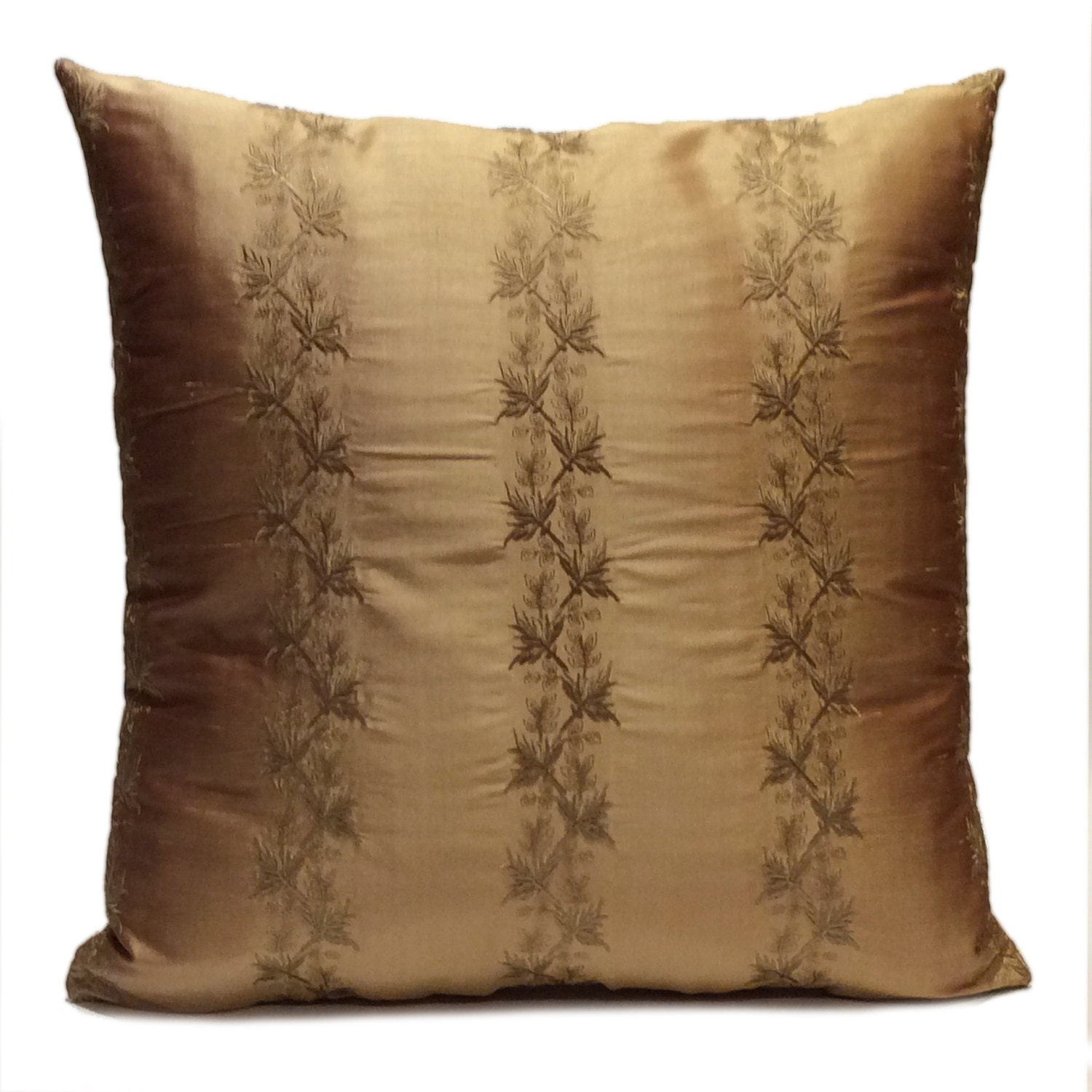 Gold Brown Throw Pillows : Brown Gold Pillow Throw Pillow Cover Decorative Pillow