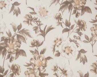 SCALAMANDRE ANEMONE FLORAL Warp Printed Silk Fabric 10 Yards Amber Multi