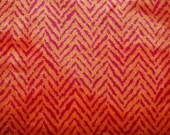 LEE JOFA KRAVET Italian Herringbone Velvet Fabric 10 Yards Persimmons Fuchsia
