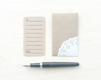 Add-A-Card • Petite Sentiment • Kraft Note Card & Envelope Set • Unscented • Custom Message Option • Free Shipping • Not For Individual Sale