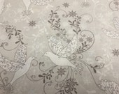 Hancock Fabrics Cotton Christmas Fabric with Doves - By The Yard