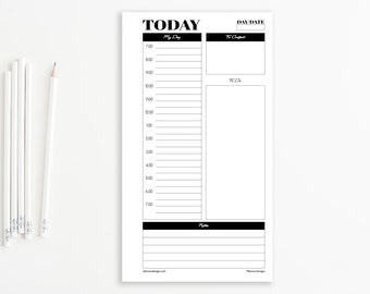 daily planner with time