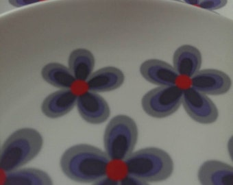 Oh so 1970s Retro Large Salad or Dessert Plates by Schumann Arzberg Germany