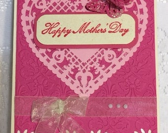 Mother's Day, Elegant Handmade Greeting Card