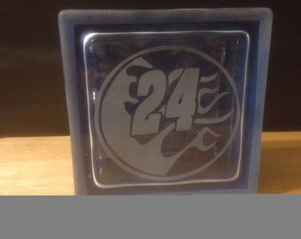 Jeff Gordon glass block