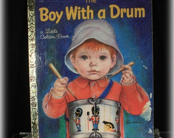 Boy With A Drum, Little Golden Book, 1969, Childs Book, 1st Edition, First Edition