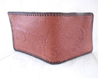 Lightweight hand laced leather wallet