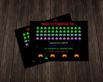 Space Invaders Invite