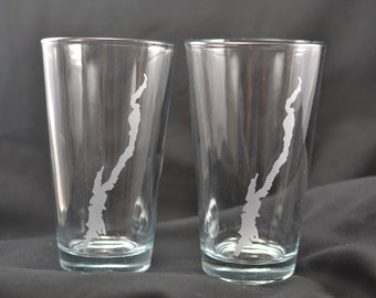 2 Lake George pint glass