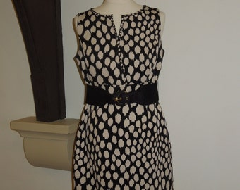 Vintage animal print dress with belt