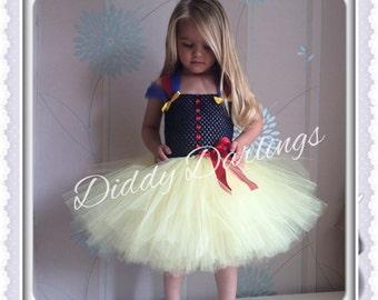 Snow White Tutu Dress. Inspired Handmade Tutu Dress. All Sizes Fully Customised. Princess Tutu Dress.