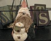 Santa & Snowman - Santa Shelf Sitter