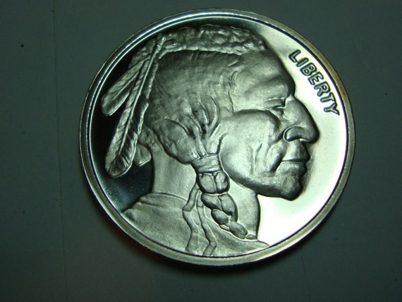 Indian Head Buffalo Silver Bullion Coin One Troy Ounce Ms Bu