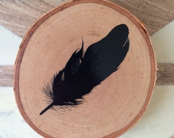 Hand-painted feather