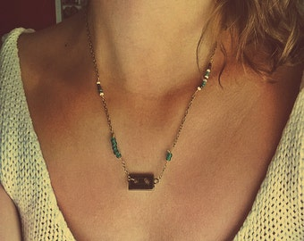 Vintage Tape Bead Necklace