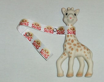 Toy Saver Gold Coast Suns, AFL, baby accessory, goldcoast, handmade baby gift, sophie saver, toy holder