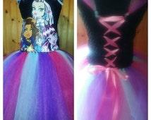 Monster High Dress Monster High birthday Outfit Monster High tutus monster high dress monster high birthday party dress