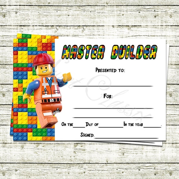 Lego Master Builder Certificate BLACK FRIDAY by SweetClassix