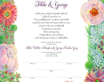 Garden Marriage Certificate